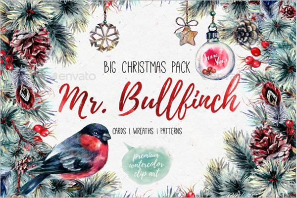 Watercolor Christmas Scenes Design