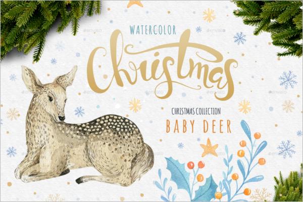 Watercolor Christmas Vector Design