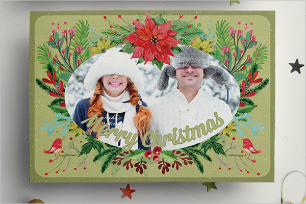 Watercolor Floral Christmas Cards