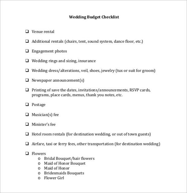 Wedding Budget Excel Download