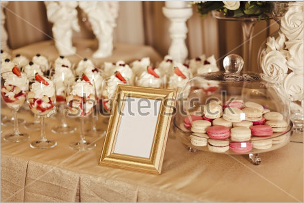 Wedding Candy Bar With Mockup Template