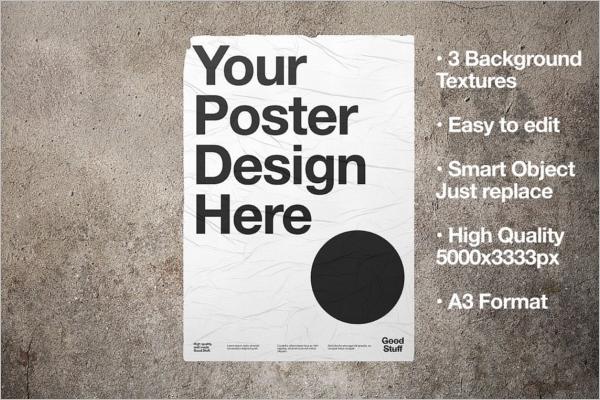 WheatPaste Poster Mockup Design