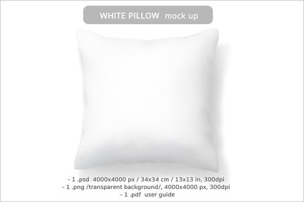 White Pillow Mockup Template