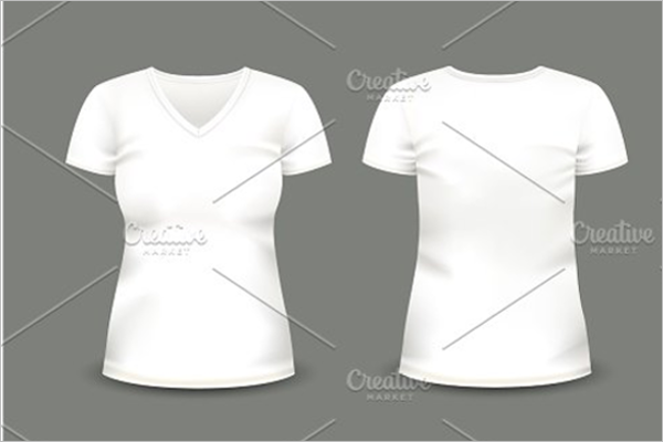 White T-Shirt Mockups Template