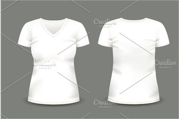 White T-Shirt Mockups Template