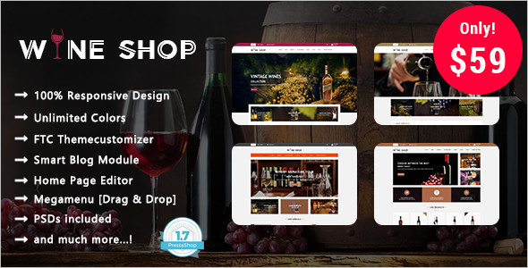 Wine Shop Website Theme