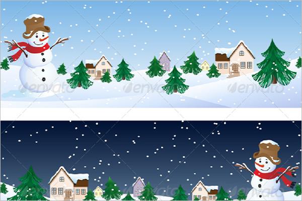 Winter Background Illustration