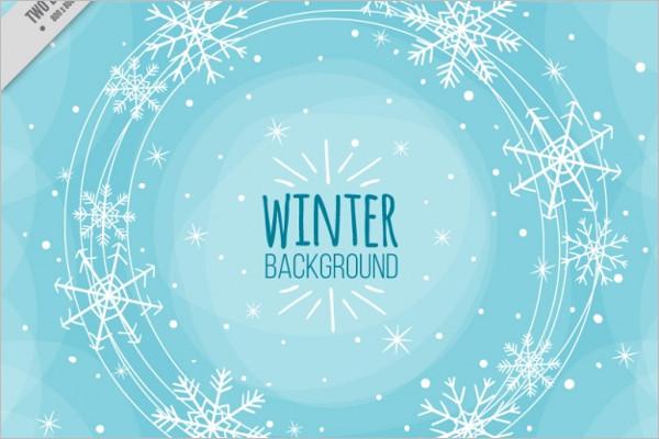 Winter Background Logo Design