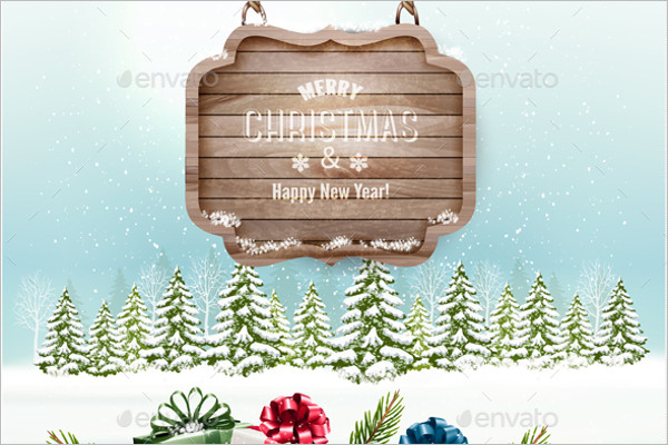 Winter Christmas Background Template