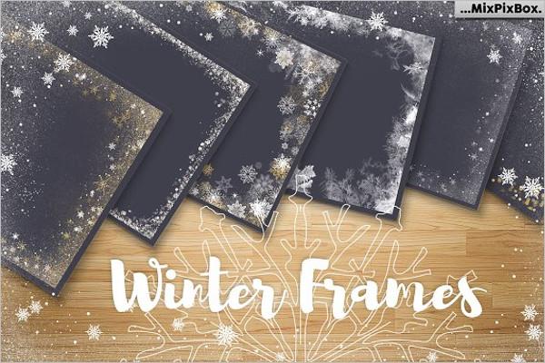 Winter Frames Illustration Design