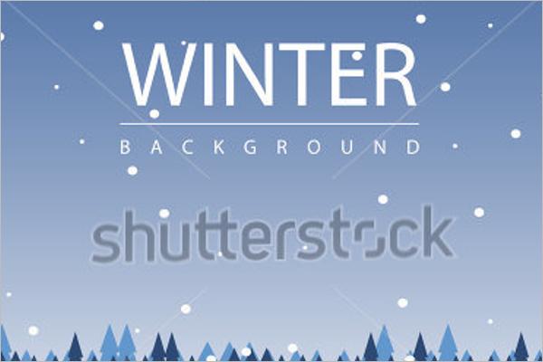 Winter Season Background Design