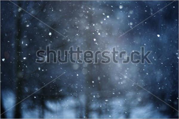 Winter Stars Background Design