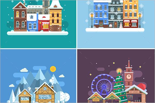 Winter Travel Background Design