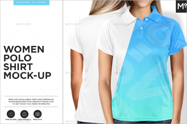 Women Polo Shirt Mockup Design