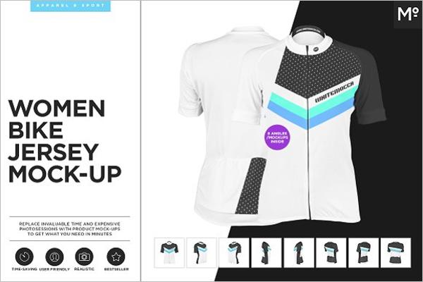 Women T- Shirt Mockup Template