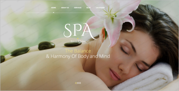 Women's Beauty Salon Website Template