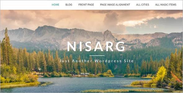 WordPress Blog Sample Theme