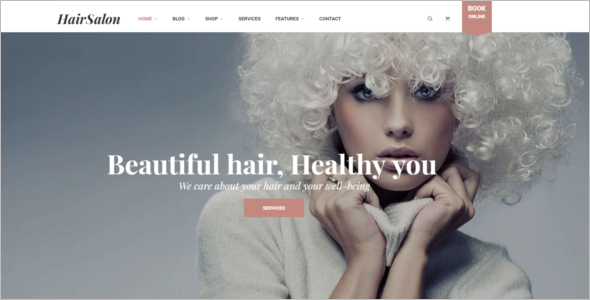 WordPress Salon Website Template