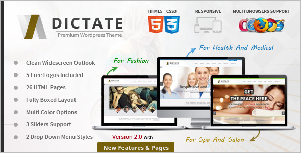 WordPress SpaWebsite Template