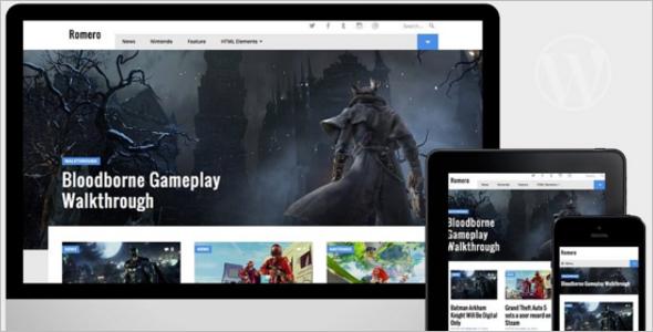 WordPress Video Game Theme