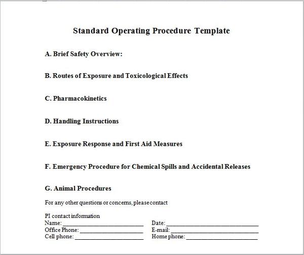 Writing Standard Operating Procedure
