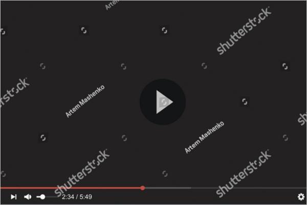 YouTube Video Mockup