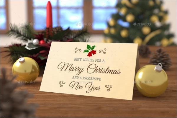 5x7 Christmas card Mockup