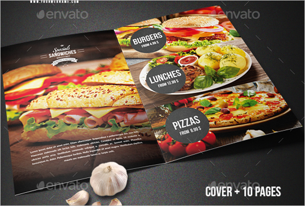 A4 Catering Menu Template