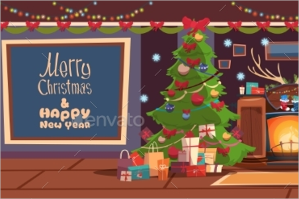 Abstract Christmas Greeting Card