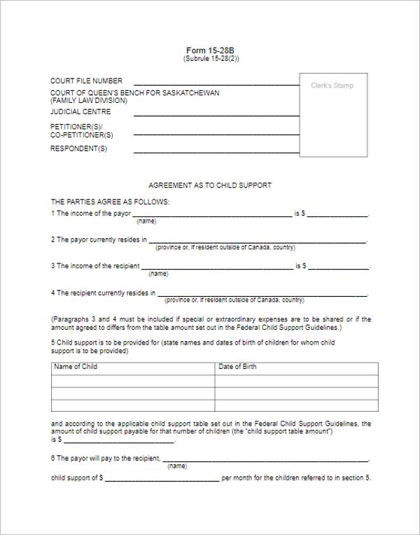 Agreement Divorce Paper PDF