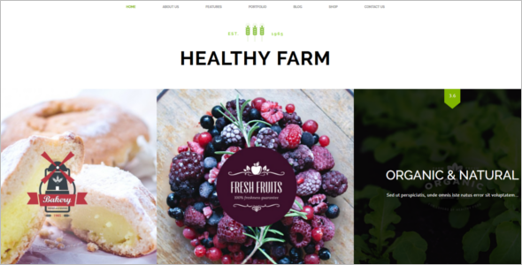 Agriculture Web HTML Template
