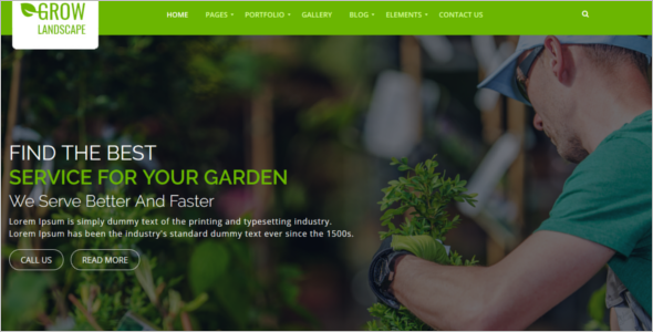 Agriculture Website Template Bootstrap