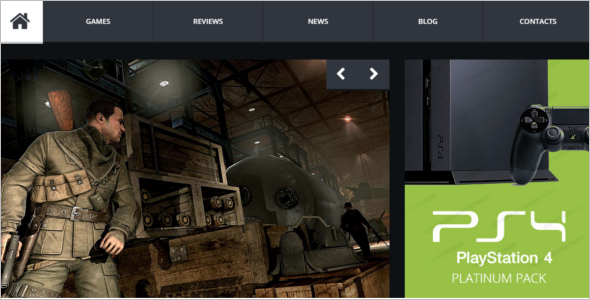 Amazing Gaming Website Template