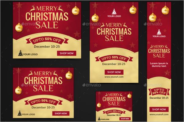Animated Christmas Banner Template