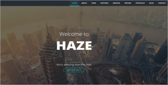 Animated HTML5 Website Template