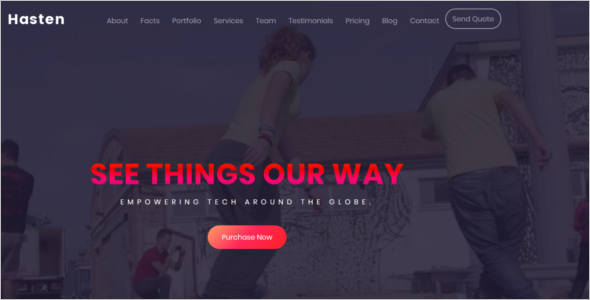 Animated Website Background Template