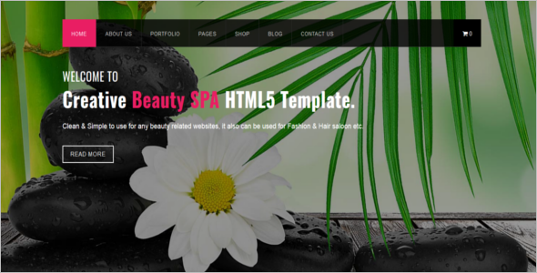 Animated Website Template HTML5
