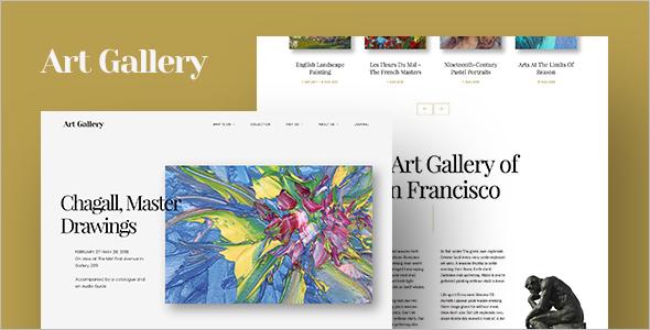 Art Gallery Website Template