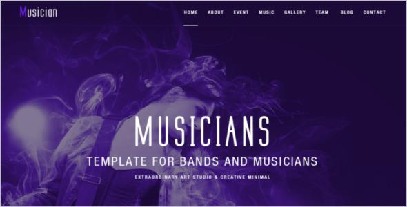 Artist Band PSD Website Template