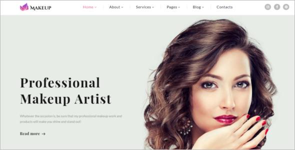 Artist & Cosmetics Website Template