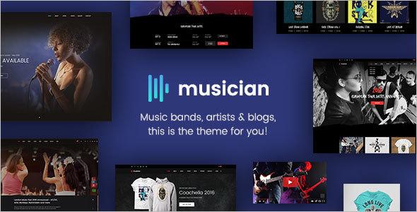 Artist Web Template