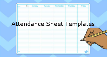 30 attendance sheet templates free excel pdf formats