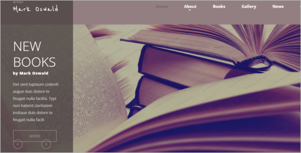Author Website Template Squarespace