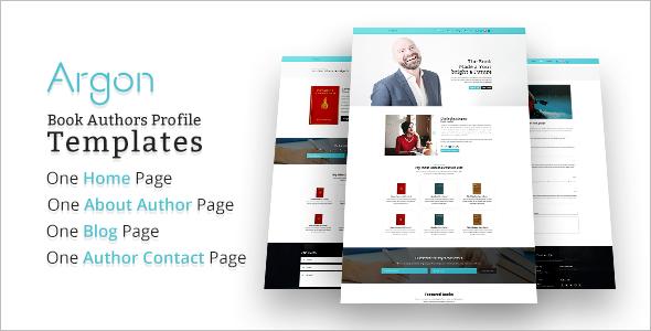 Author Website Template WordPress