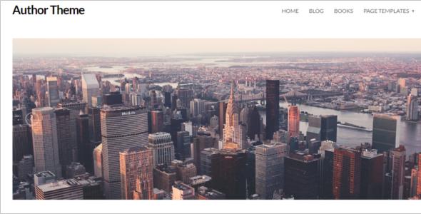 Author Website WordPress Theme