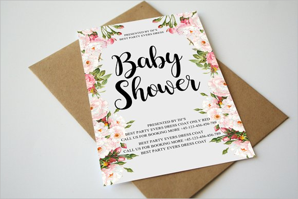 Baby Shower Flyer For Work