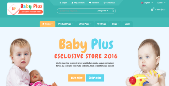 Baby Plus ECommerce HTML Template