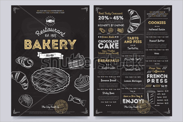 Bakery Hand Drawn Menu Template