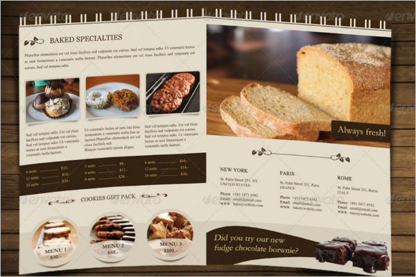 Bakery Menu Brochure Template