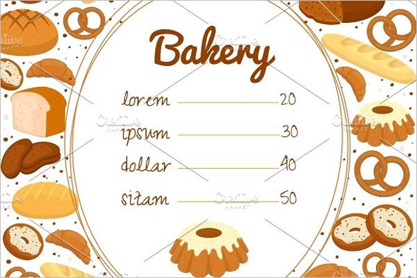Bakery Price Menu Template
